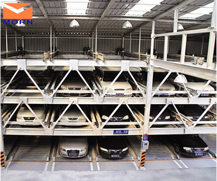 Four levels vertical horizontal auto parking system