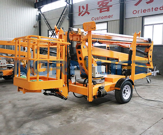 Trailer mounted boom lift 10m